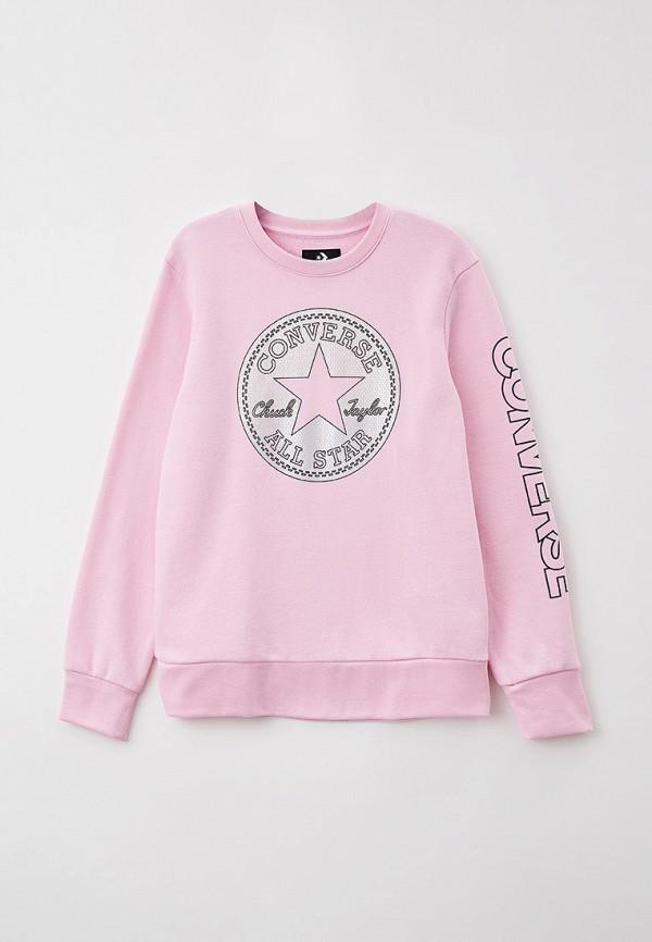 свитшот converse для девочки, розовый