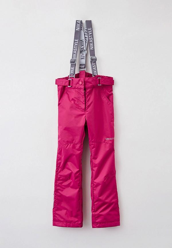Брюки для девочки утепленные Nikastyle цвет розовый