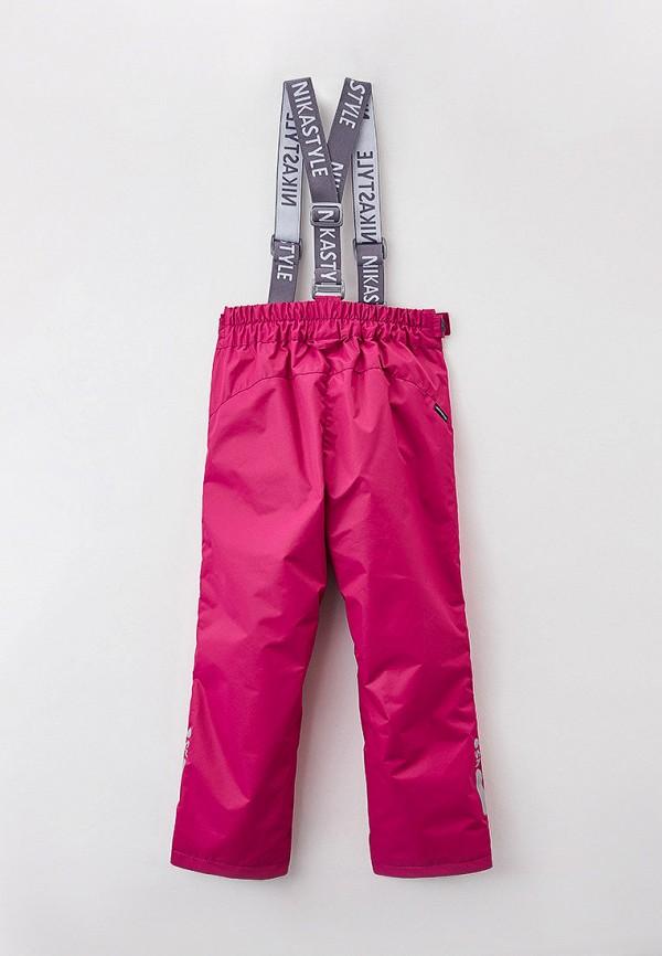 Брюки для девочки утепленные Nikastyle цвет розовый  Фото 2