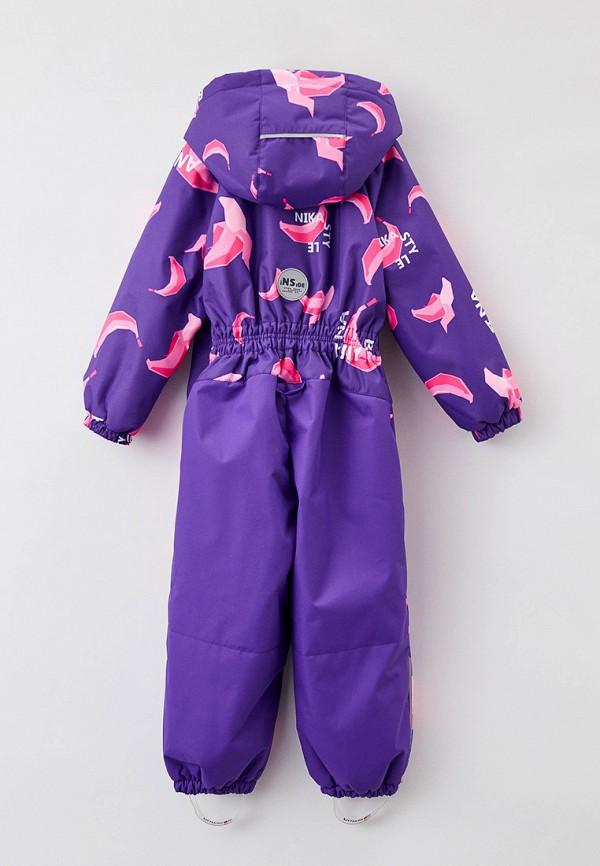 Детский комбинезон утепленный Nikastyle цвет фиолетовый  Фото 2
