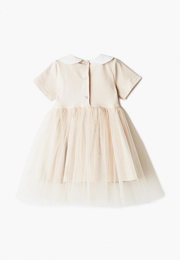 Платья для девочки Trendyco Kids цвет бежевый  Фото 2