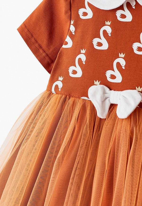 Платья для девочки Trendyco Kids цвет оранжевый  Фото 3