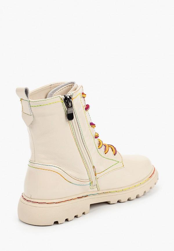 Ботинки для девочки Капитошка цвет бежевый  Фото 3