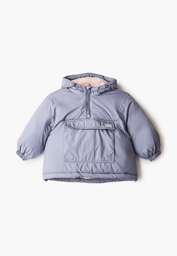 Куртка для девочки утепленная Sela цвет серый