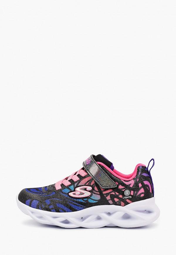 Кроссовки для девочки Skechers цвет черный