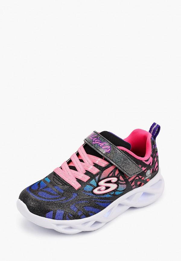 Кроссовки для девочки Skechers цвет черный  Фото 2