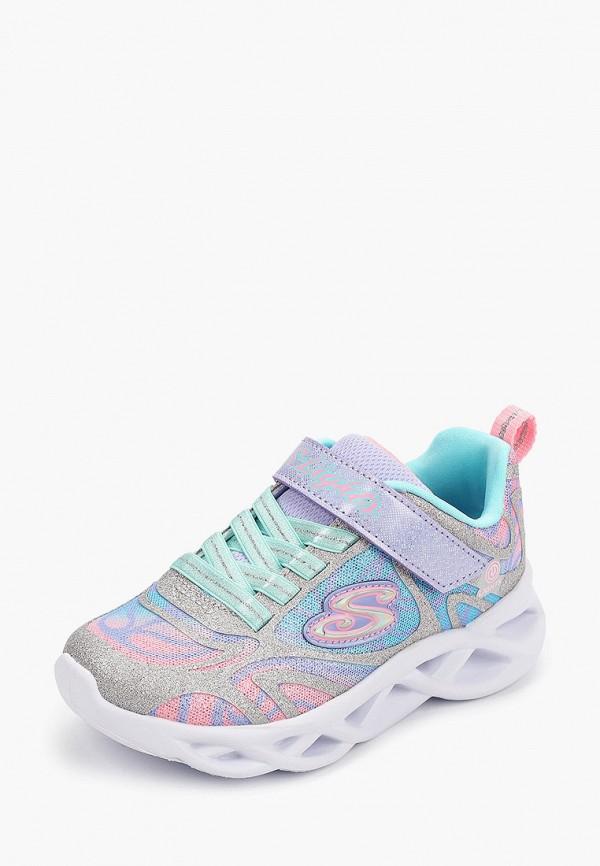 Кроссовки для девочки Skechers цвет серебряный  Фото 2