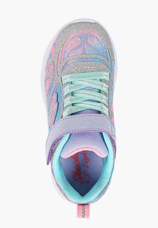 Кроссовки для девочки Skechers цвет серебряный  Фото 4