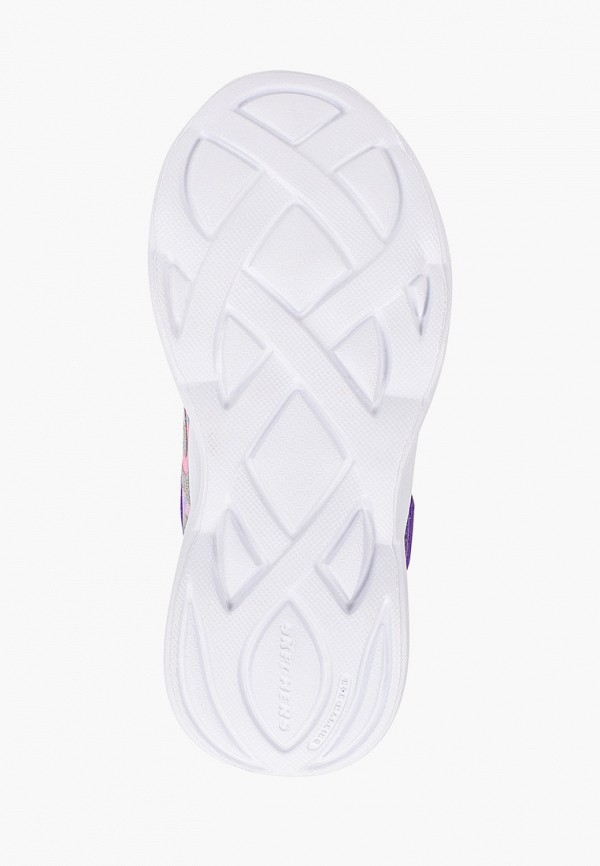 Кроссовки для девочки Skechers цвет серебряный  Фото 5