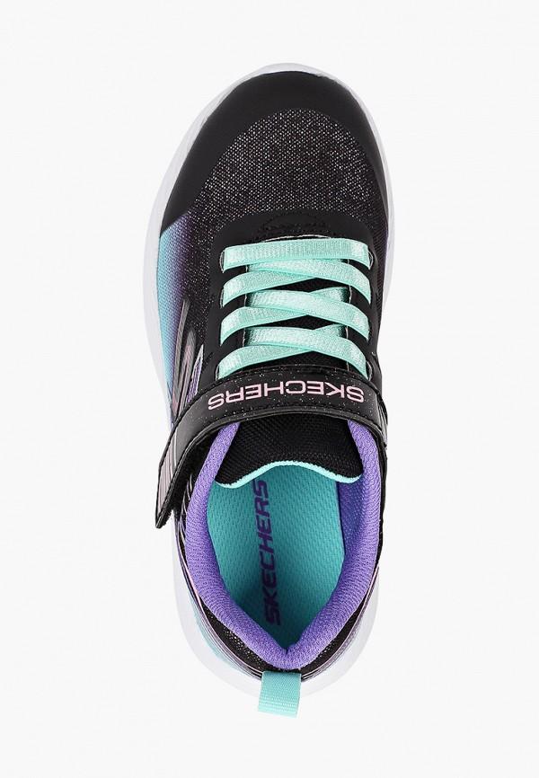 Кроссовки для девочки Skechers цвет черный  Фото 4