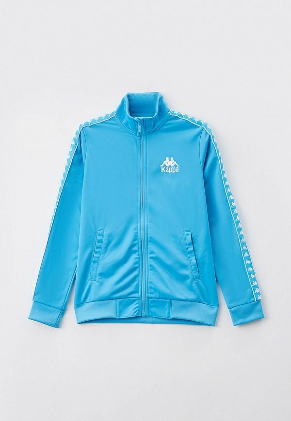 олимпийка kappa для девочки, голубая