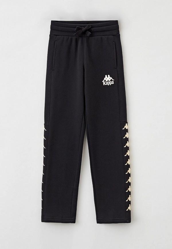 спортивные брюки kappa для девочки, черные