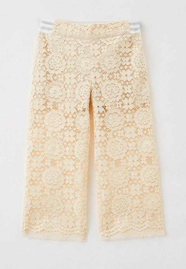 брюки smena для девочки, бежевые