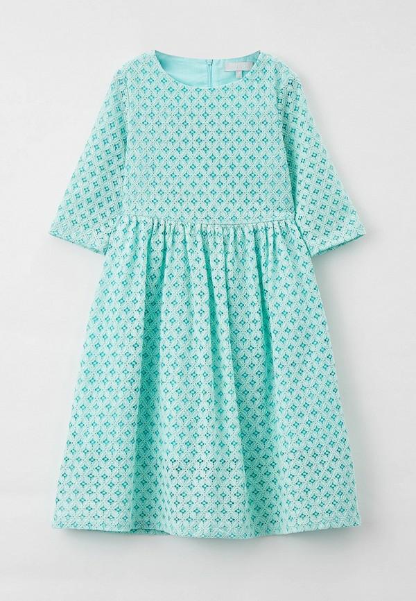 Платья для девочки Smena цвет бирюзовый