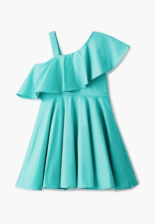 Платья для девочки Smena цвет бирюзовый  Фото 2