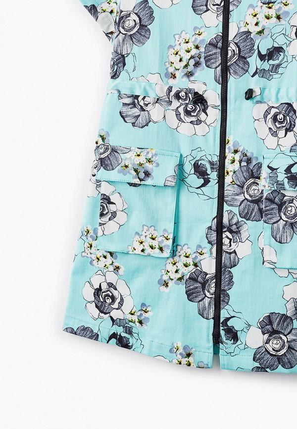 Платья для девочки Smena цвет бирюзовый  Фото 3