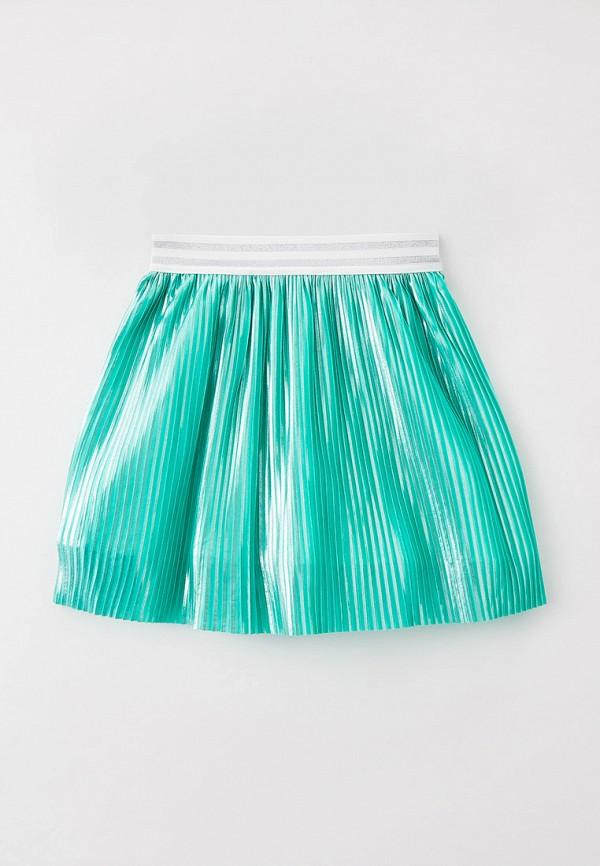 юбка smena для девочки, бирюзовая