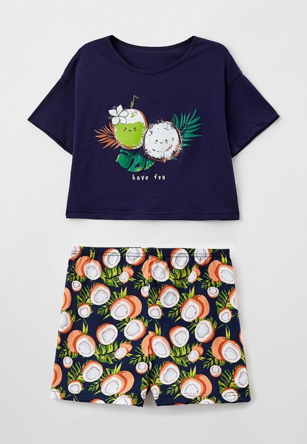 пижама веселый малыш для девочки, разноцветная