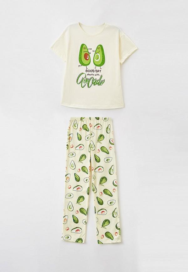 пижама веселый малыш для девочки, желтая