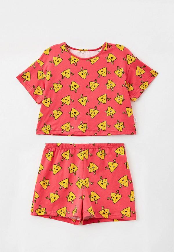пижама веселый малыш для девочки, розовая