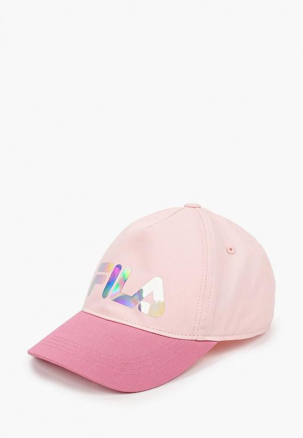 Детская бейсболка Fila цвет розовый