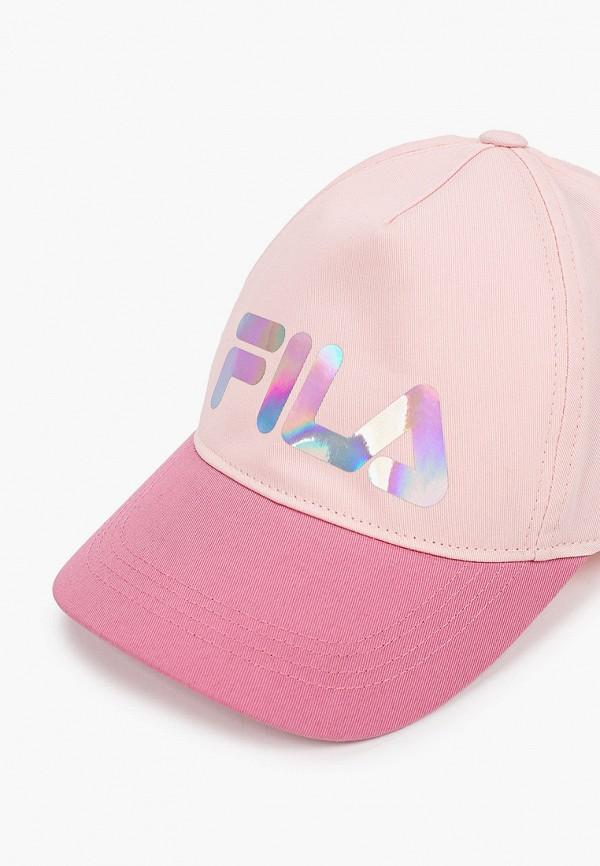 Детская бейсболка Fila цвет розовый  Фото 3