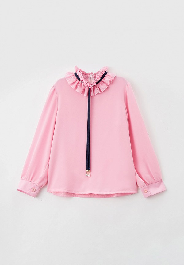 блузка соль&перец для девочки, розовая
