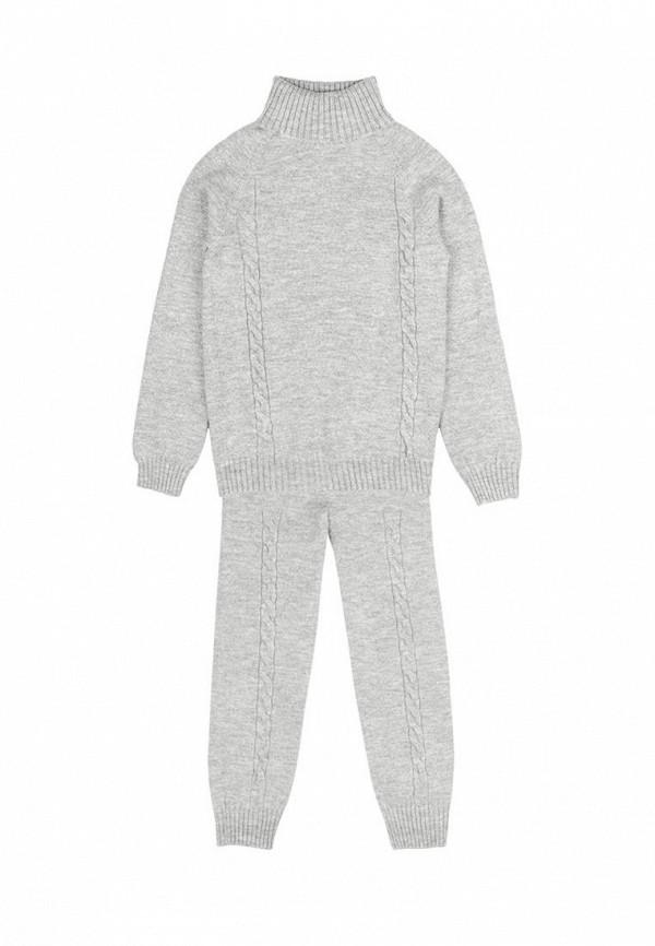 костюм l'maro для девочки, серый