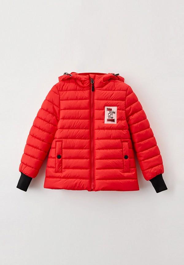 утепленные куртка артус для девочки, красная