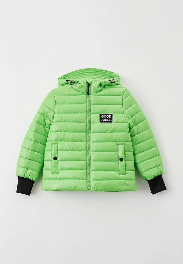 утепленные куртка артус для девочки, зеленая