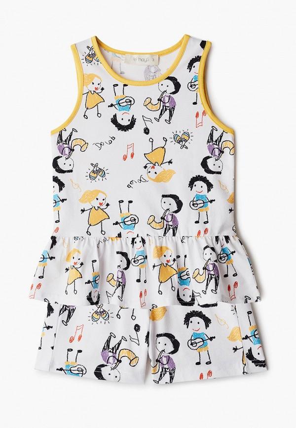 Пижама для девочки Hays цвет белый