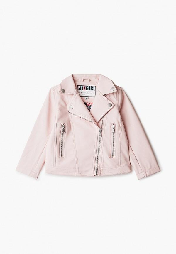 Куртка для девочки кожаная PlayToday цвет розовый