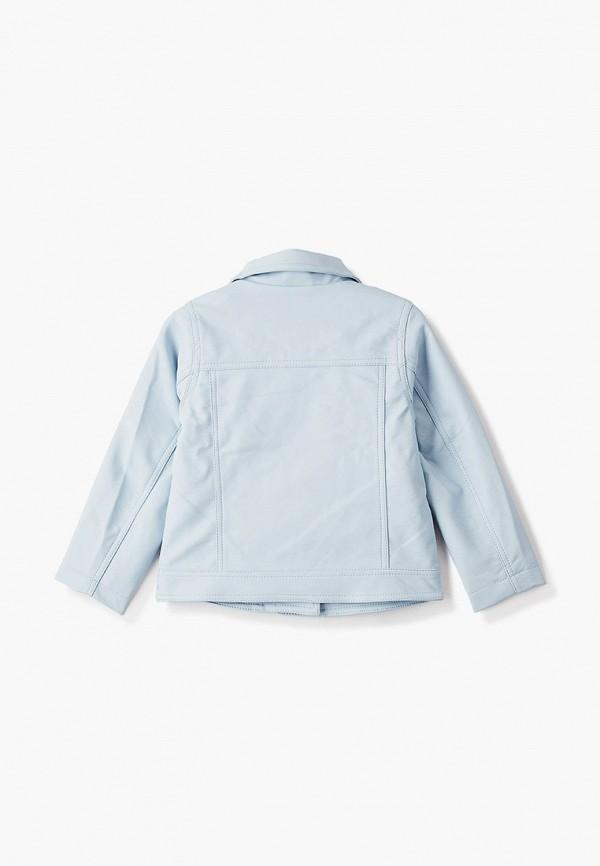 Куртка для девочки кожаная PlayToday цвет голубой  Фото 2