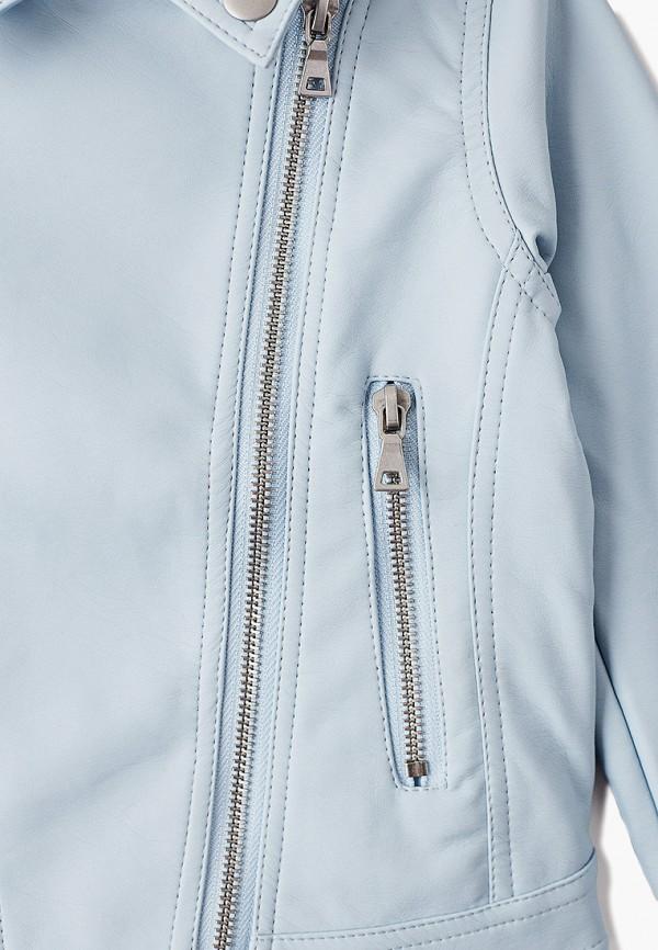 Куртка для девочки кожаная PlayToday цвет голубой  Фото 3