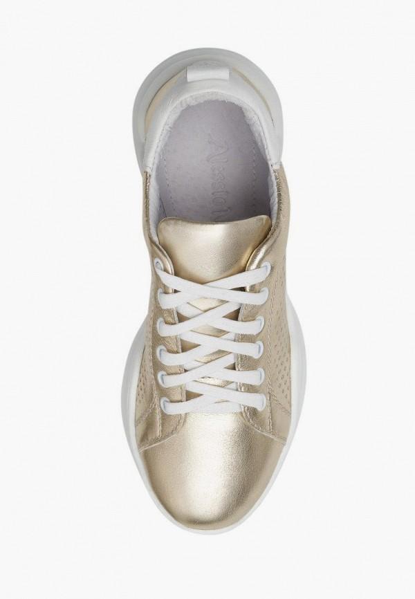 Кроссовки для девочки Alessio Nesca цвет золотой  Фото 3
