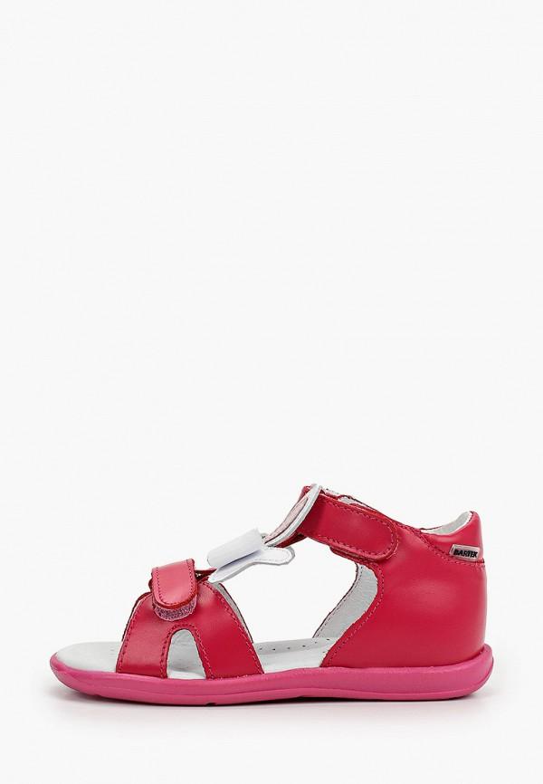 сандалии bartek для девочки, розовые