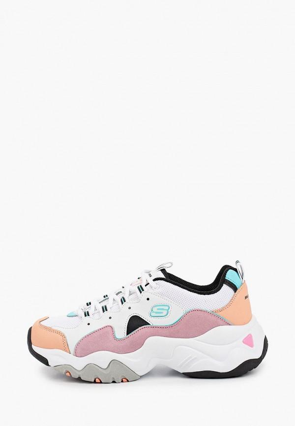 кроссовки skechers для девочки, белые