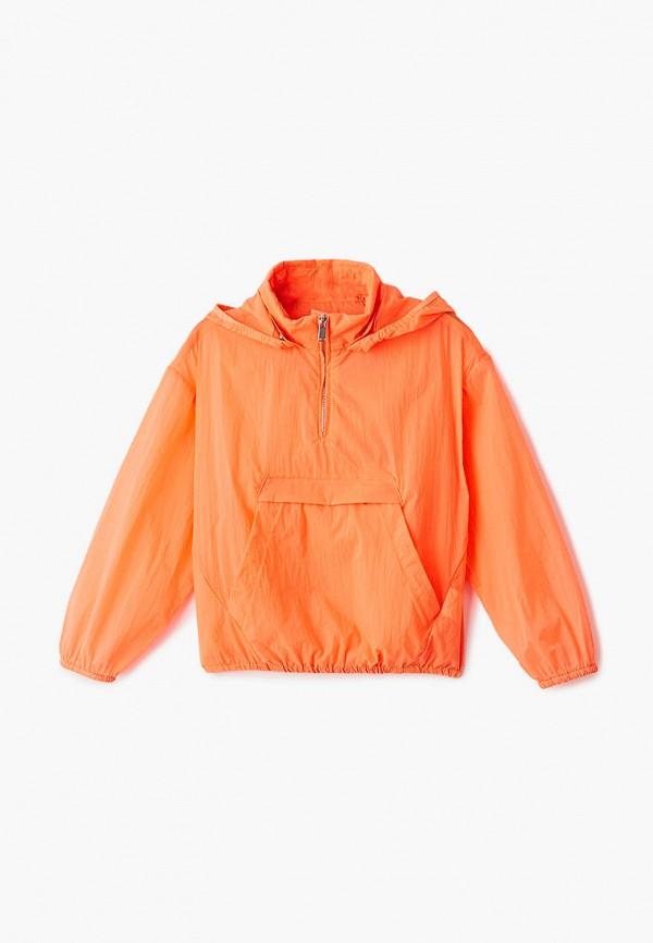 Ветровка для девочки Sela цвет оранжевый