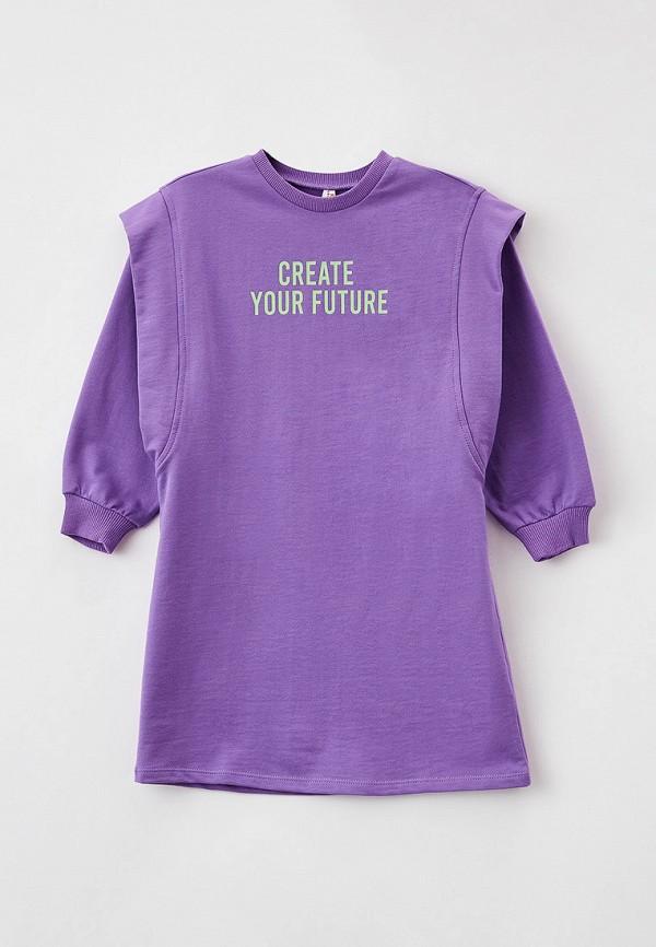 повседневные платье defacto для девочки, фиолетовое