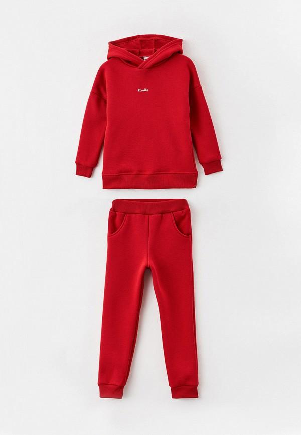 спортивный костюм looklie для девочки, красный