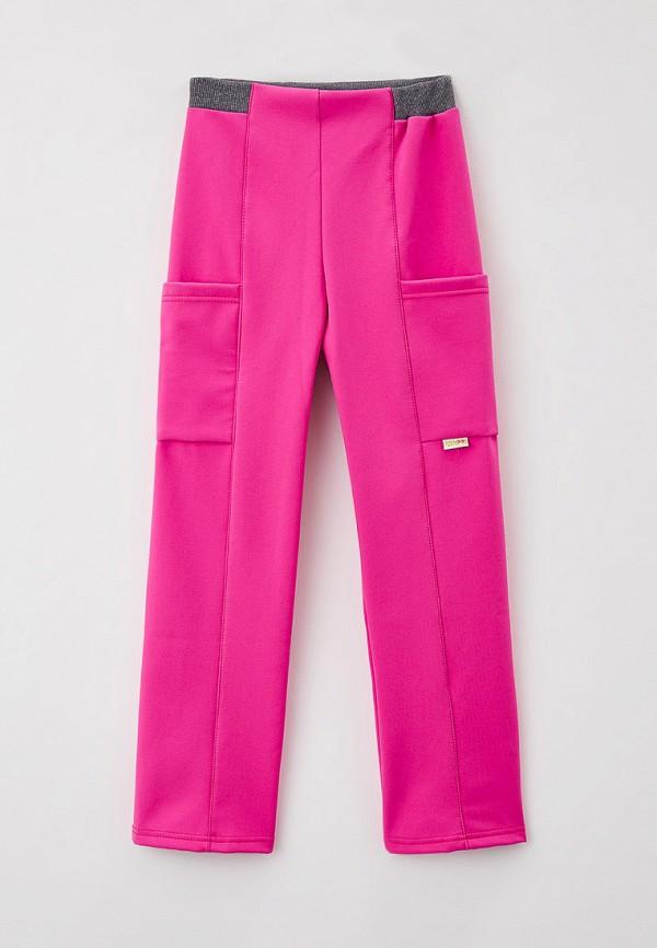 утепленные брюки looklie для девочки, розовые