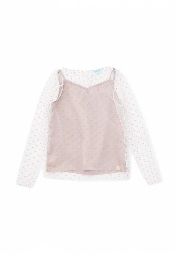 блузка andre tan для девочки, бежевая