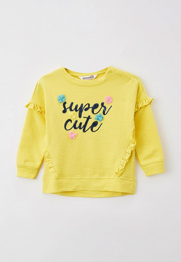 свитшот coccodrillo для девочки, желтый