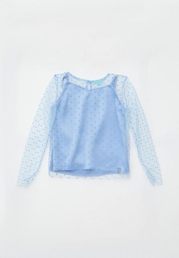 блузка andre tan для девочки, голубая
