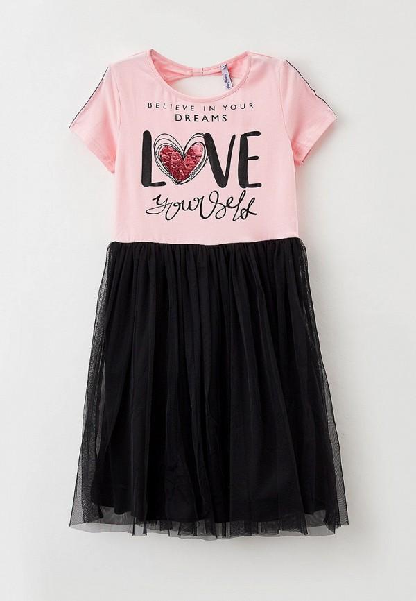 повседневные платье playtoday для девочки, разноцветное