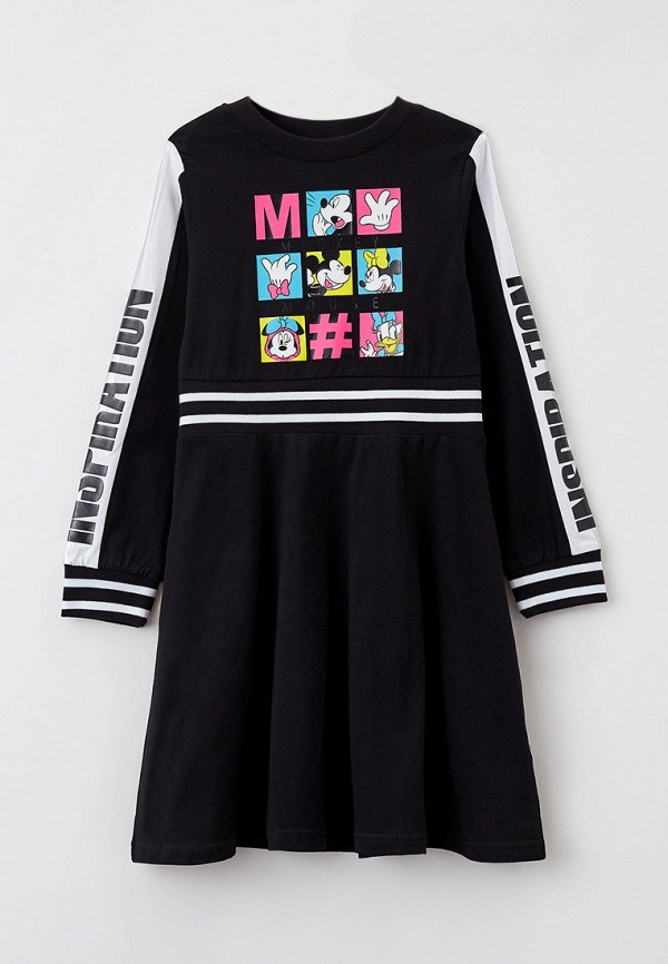 повседневные платье playtoday для девочки, черное