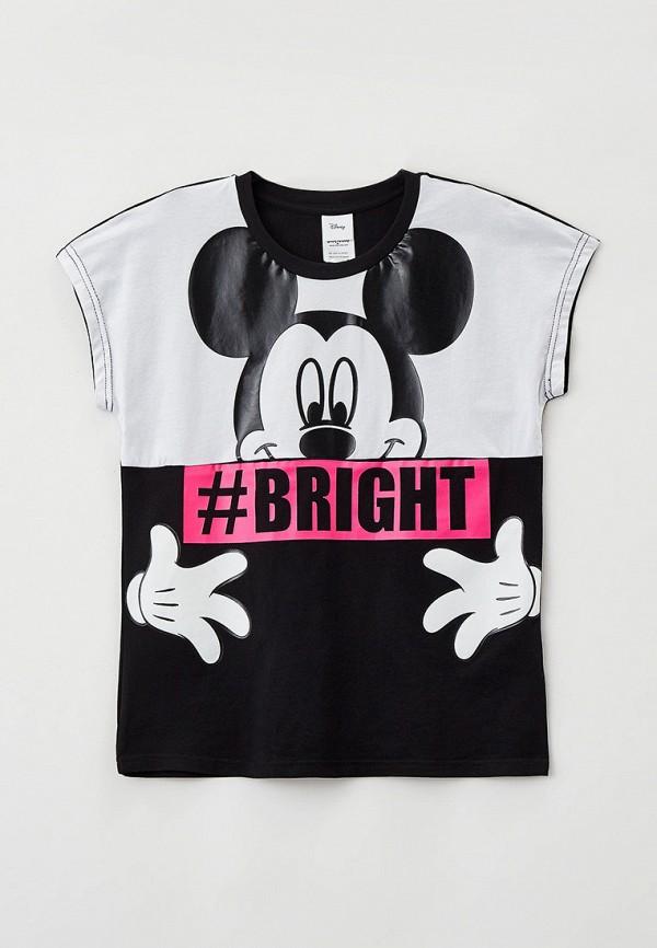 футболка с коротким рукавом playtoday для девочки, черная