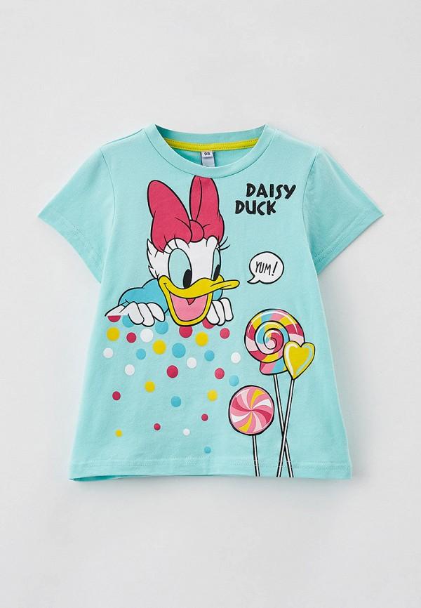 футболка с коротким рукавом playtoday для девочки, бирюзовая