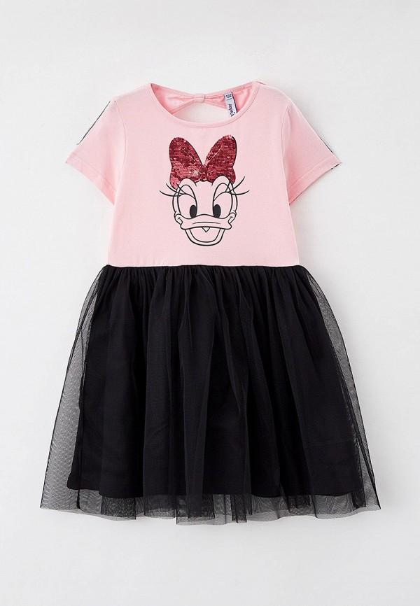 повседневные платье playtoday для девочки, розовое