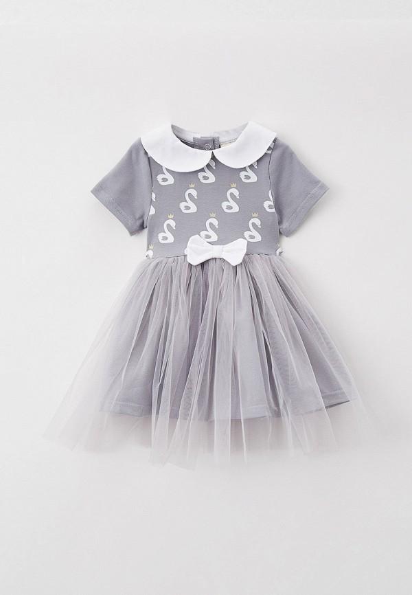 нарядные платье trendyco kids для девочки, серое